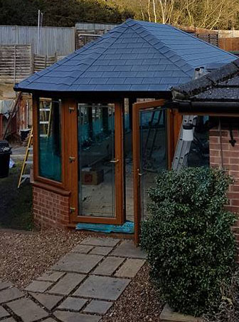 warm roof on conservatory