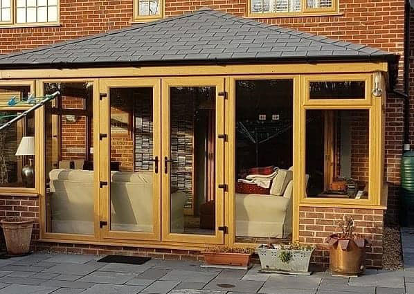 warm roof fitted on conservatory